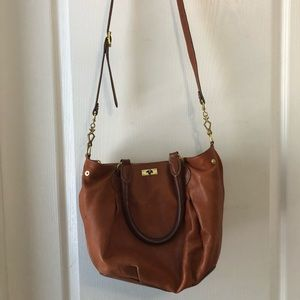J.Crew caramel leather purse